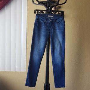 Women's 711 Skinny stretch dark blue jeans 26/30